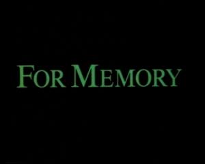 For Memory (1986)